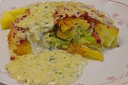 Porree - Ananas - Auflauf