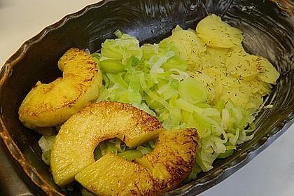 Porree - Ananas - Auflauf 2