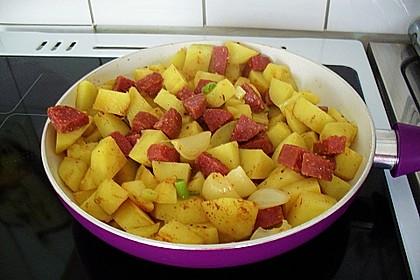 Kartoffel - Salami - Pfanne