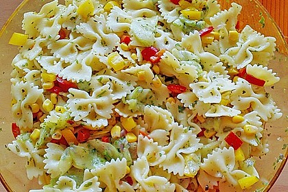 Bunter Nudelsalat ohne Mayonnaise 5