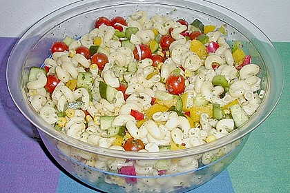 Bunter Nudelsalat ohne Mayonnaise 9