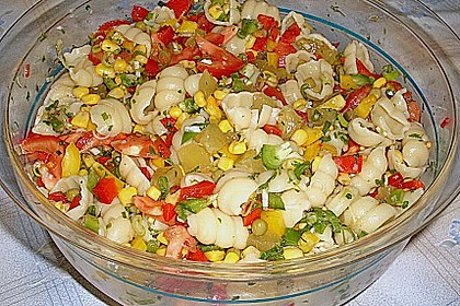 Bunter Nudelsalat ohne Mayonnaise 3