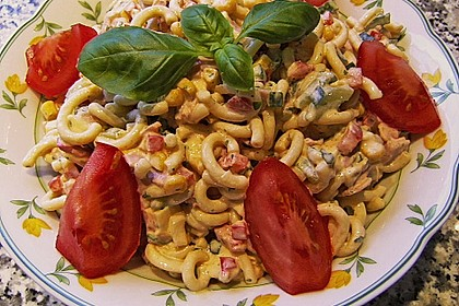 Bunter Nudelsalat ohne Mayonnaise 13