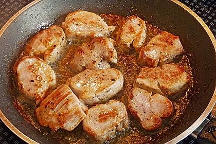 Schweinemedaillons mit Orangensauce 2