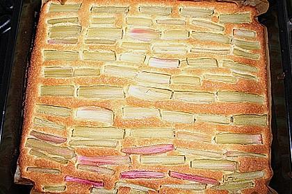 Rhabarberschnitten mit Vanille - Schmand - Guss 39