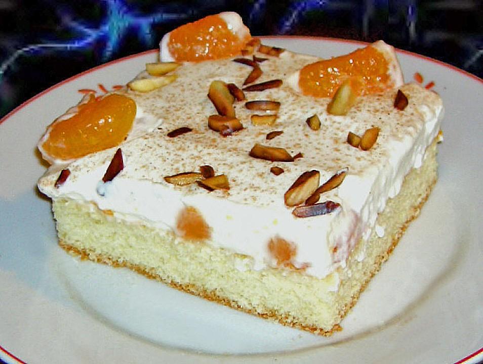 Mandarine schmand kuchen mit zimt