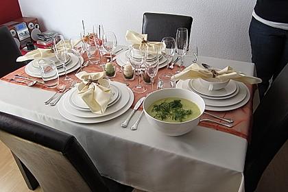 Kartoffel - Lauch - Suppe mit Lachs und Tomaten 1