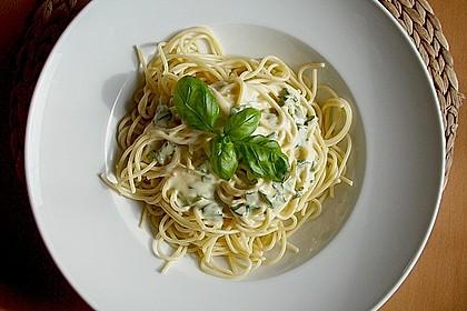 Spaghetti mit Zitronen - Sahne - Soße 1