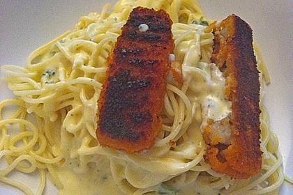 Spaghetti mit Zitronen - Sahne - Soße 13