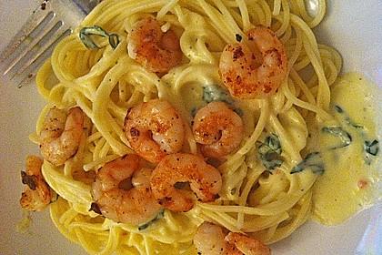 Spaghetti mit Zitronen - Sahne - Soße 9
