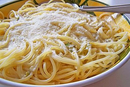 Spaghetti mit Zitronen - Sahne - Soße 2