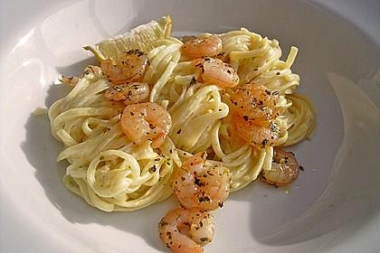 Spaghetti mit Zitronen - Sahne - Soße 3
