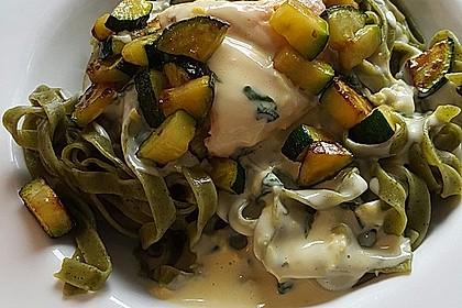 Spaghetti mit Zitronen - Sahne - Soße 4