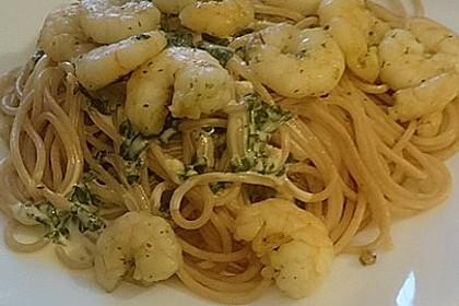 Spaghetti mit Zitronen - Sahne - Soße 8