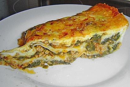 Lasagne mit Spinat und Hackfleisch 3