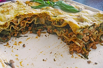 Lasagne mit Spinat und Hackfleisch 1