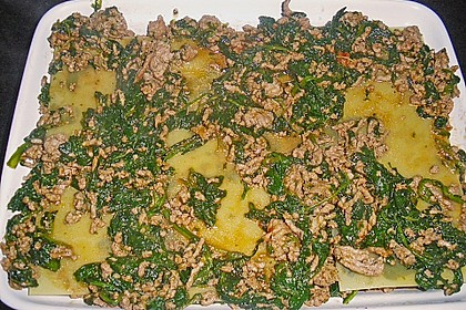Lasagne mit Spinat und Hackfleisch 4