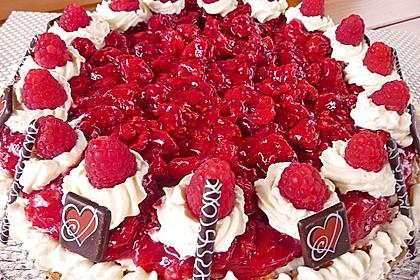 Schneller Rote - Grütze - Kuchen mit Schmand