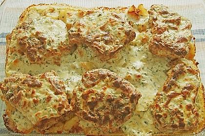 Bratkartoffelauflauf mit Schnitzel 18