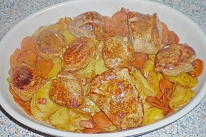 Bratkartoffelauflauf mit Schnitzel 51