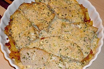 Bratkartoffelauflauf mit Schnitzel 23