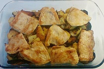 Bratkartoffelauflauf mit Schnitzel 38
