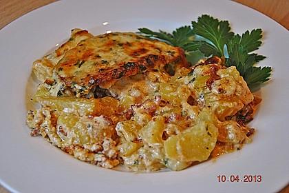 Bratkartoffelauflauf mit Schnitzel 13