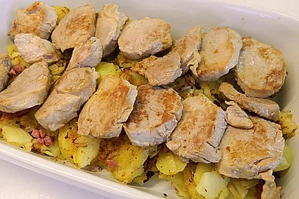 Bratkartoffelauflauf mit Schnitzel 24