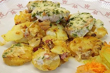 Bratkartoffelauflauf mit Schnitzel 9
