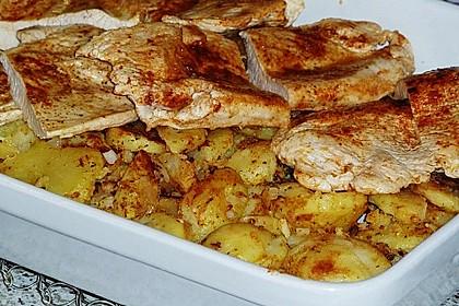 Bratkartoffelauflauf mit Schnitzel 44