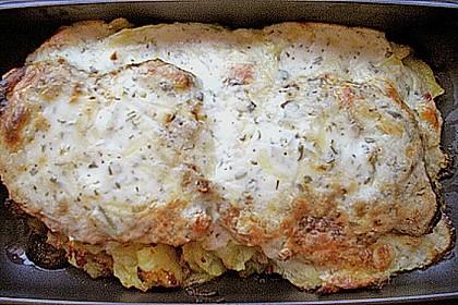 Bratkartoffelauflauf mit Schnitzel 67