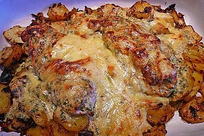 Bratkartoffelauflauf mit Schnitzel 14