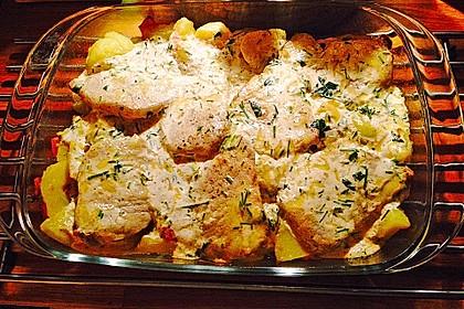 Bratkartoffelauflauf mit Schnitzel 10