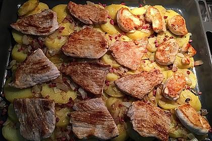 Bratkartoffelauflauf mit Schnitzel 35