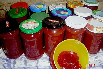 Erdbeermarmelade mit Sekt 1
