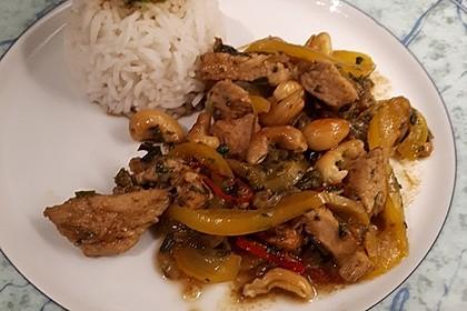 Gebratenes Hühnerfleisch mit Cashewkernen - Gai Pad Mamuang 6