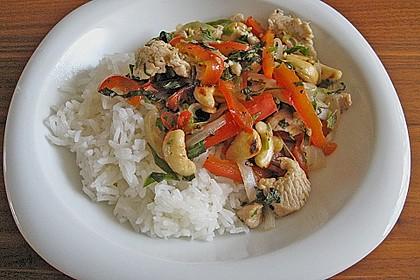 Gebratenes Hühnerfleisch mit Cashewkernen - Gai Pad Mamuang 2