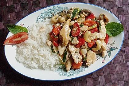 Gebratenes Hühnerfleisch mit Cashewkernen - Gai Pad Mamuang 7