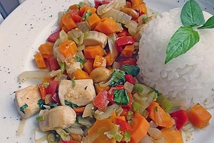 Gebratenes Hühnerfleisch mit Cashewkernen - Gai Pad Mamuang 8