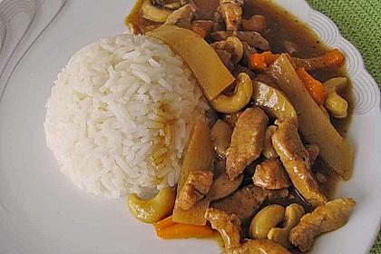 Gebratenes Hühnerfleisch mit Cashewkernen - Gai Pad Mamuang 4