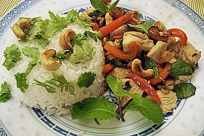 Gebratenes Hühnerfleisch mit Cashewkernen - Gai Pad Mamuang