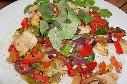 Gebratenes Hühnerfleisch mit Cashewkernen - Gai Pad Mamuang 3