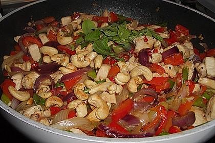 Gebratenes Hühnerfleisch mit Cashewkernen - Gai Pad Mamuang 1