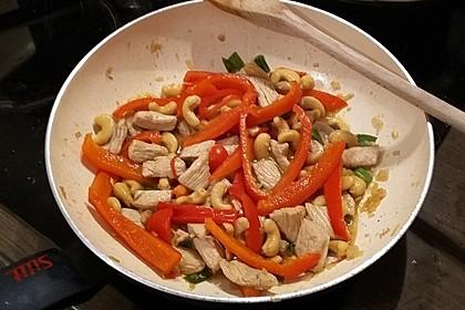 Gebratenes Hühnerfleisch mit Cashewkernen - Gai Pad Mamuang 5