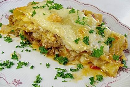 Lasagne mit Hackfleisch und Äpfeln
