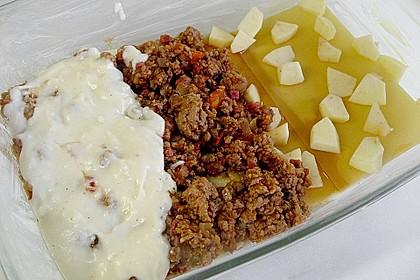Lasagne mit Hackfleisch und Äpfeln 3