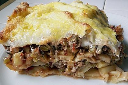 Lasagne mit Hackfleisch und Äpfeln 1