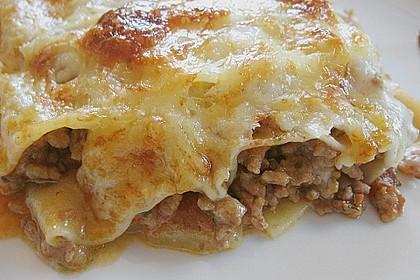 Lasagne mit Hackfleisch und Äpfeln 2