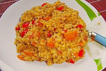 Bulgur - Tomaten - Feta - Pfanne 1