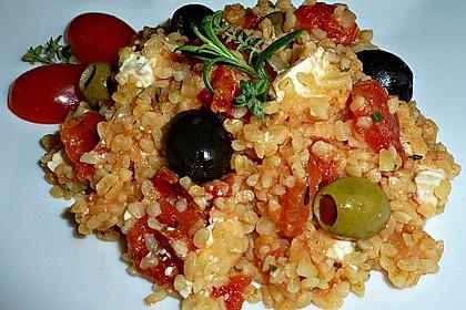 Bulgur - Tomaten - Feta - Pfanne 0